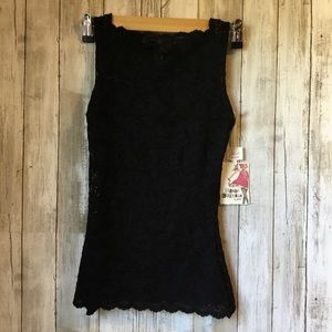 Spanx Lace Shaping Camisole X-Small Black NWT